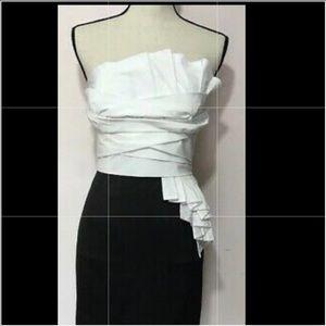 🔵Nordstrom NWT Black & White Strapless Dress